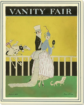 Vanity Fair Race Track Wrapped Canvas Giclee Art Print Wall Art