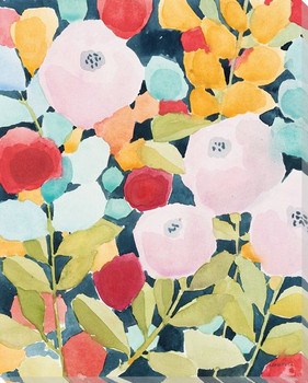 Morning 2 Flowers Wrapped Canvas Giclee Art Print Wall Art