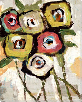Painted Bouquet Boxed Wrapped Canvas Giclee Art Print Wall Art