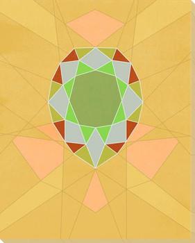 Graphic Gemstone 2 Pear Cut Wrapped Canvas Giclee Art Print Wall Art
