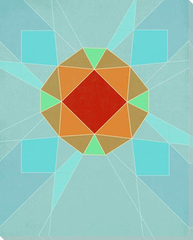Graphic Gemstone 2 Magna Cut Wrapped Canvas Giclee Art Print Wall Art