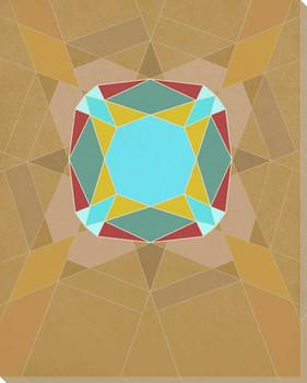Graphic Gemstone 2 Cushion Cut Wrapped Canvas Giclee Art Print Wall Art