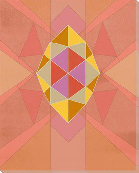 Graphic Gemstone 2 Marquise Cut Wrapped Canvas Giclee Art Print Wall Art