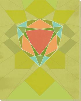 Graphic Gemstone 2 Trillion Cut Wrapped Canvas Giclee Art Print Wall Art