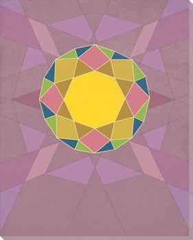 Graphic Gemstone 2 Brilliant Cut Wrapped Canvas Giclee Art Print Wall Art