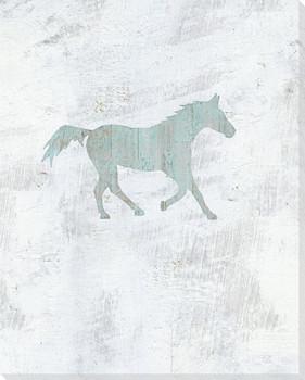 Pony Wrapped Canvas Giclee Art Print Wall Art