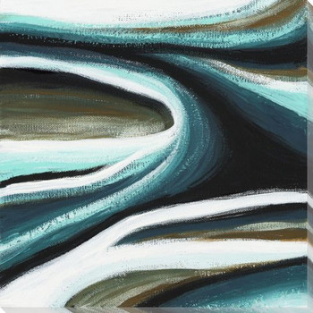 Cresent I Wrapped Canvas Giclee Art Print Wall Art
