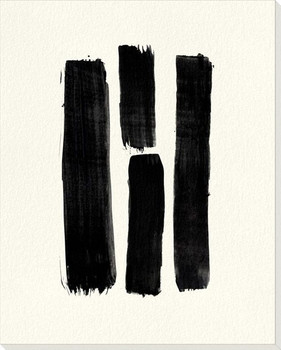 Bold Strokes 1 Wrapped Canvas Giclee Art Print Wall Art