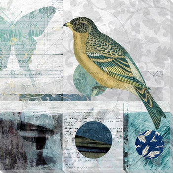 Bird Thoughts I Wrapped Canvas Giclee Art Print Wall Art