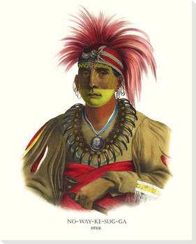 Nowaykesugga, Otoe Chief Wrapped Canvas Giclee Art Print Wall Art