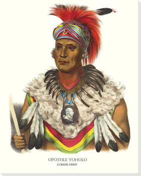 Wapella, Musquakee Chief Wrapped Canvas Giclee Art Print Wall Art