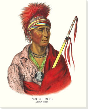 Notchimine, A Ioway Chief Wrapped Canvas Giclee Art Print Wall Art