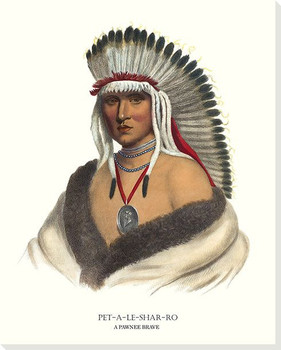 Petalesharro, A Pawnee Brave Wrapped Canvas Giclee Art Print Wall Art