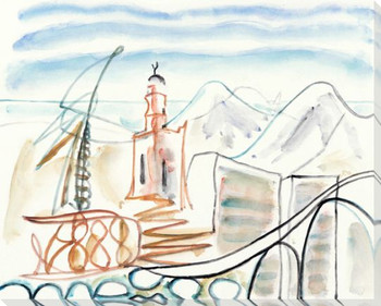 The Port 2 Wrapped Canvas Giclee Art Print Wall Art