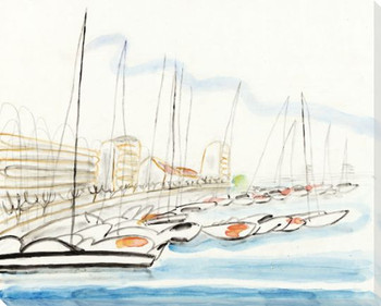 The Port 1 Wrapped Canvas Giclee Art Print Wall Art