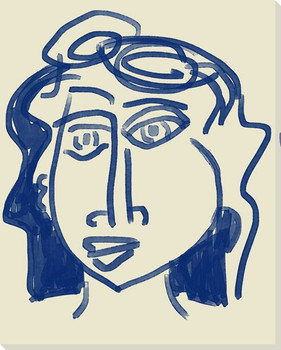 Abstracted Face 6 Wrapped Canvas Giclee Art Print Wall Art