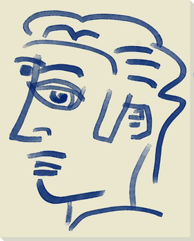 Abstracted Face 5 Wrapped Canvas Giclee Art Print Wall Art