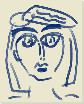 Abstracted Face 4 Wrapped Canvas Giclee Art Print Wall Art