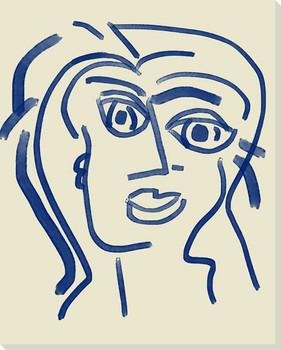 Abstracted Face 2 Wrapped Canvas Giclee Art Print Wall Art
