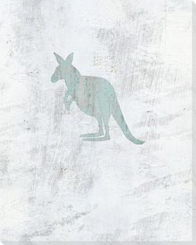 Kangaroo Wrapped Canvas Giclee Art Print Wall Art