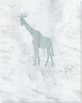 Standing Giraffe Wrapped Canvas Giclee Art Print Wall Art