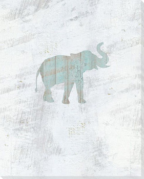 Walking Elephant Wrapped Canvas Giclee Art Print Wall Art