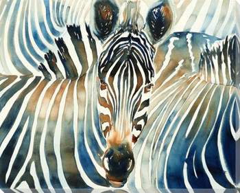 Camouflage Zebras Wrapped Canvas Giclee Art Print Wall Art