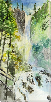 Treasure Falls Wrapped Canvas Giclee Art Print Wall Art