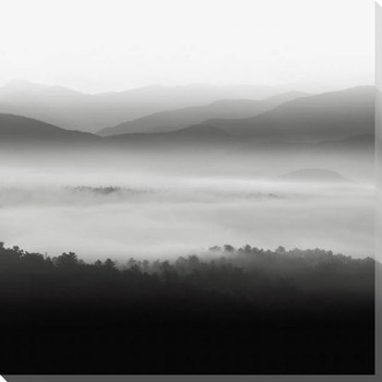 Still Morning Smoky Mountains Wrapped Canvas Giclee Art Print Wall Art