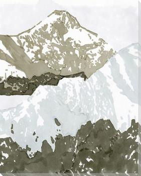 Watercolor Mountain Retreat III Wrapped Canvas Giclee Art Print Wall Art