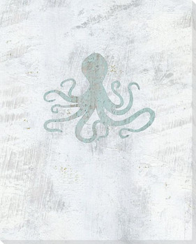 Octopus Wrapped Canvas Giclee Art Print Wall Art