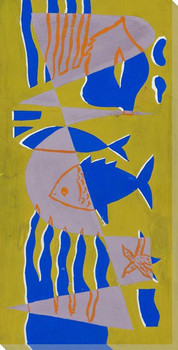 Curvy Sea 3 Wrapped Canvas Giclee Art Print Wall Art