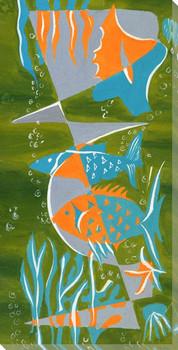 Curvy Sea 1 Wrapped Canvas Giclee Art Print Wall Art