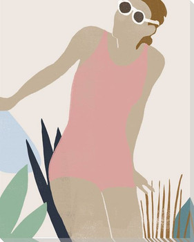 Femme Moderne IV Wrapped Canvas Giclee Art Print Wall Art