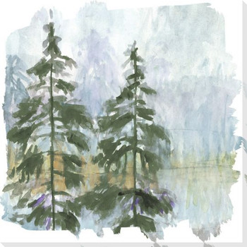 Whistle 3 Trees Wrapped Canvas Giclee Art Print Wall Art