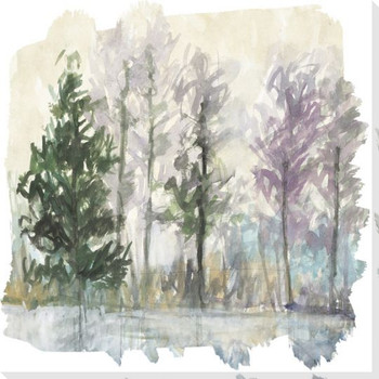Whistle 2 Trees Wrapped Canvas Giclee Art Print Wall Art