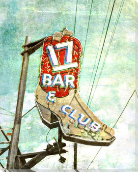 Roadside 17 Bar Wrapped Canvas Giclee Art Print Wall Art