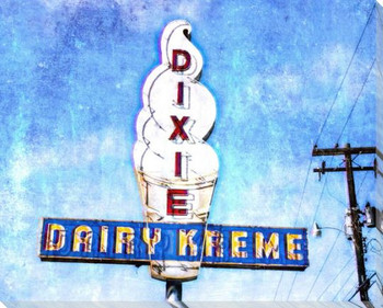 Roadside Dairy Kreme Wrapped Canvas Giclee Art Print Wall Art