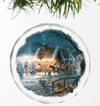 Sweet Memories Round Glass Christmas Tree Ornaments, Set of 6