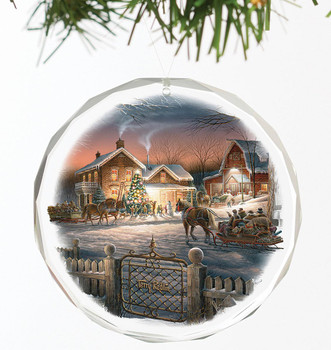 Trimming the Tree Round Glass Christmas Tree Ornaments, Set of 6