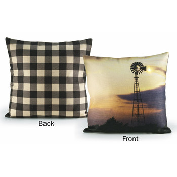 "18"" Windmill Decorative Square Throw Pillows, Set of 2"