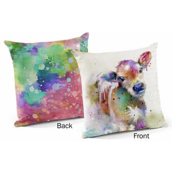 "18"" Splash Calf Decorative Square Throw Pillows, Set of 4"