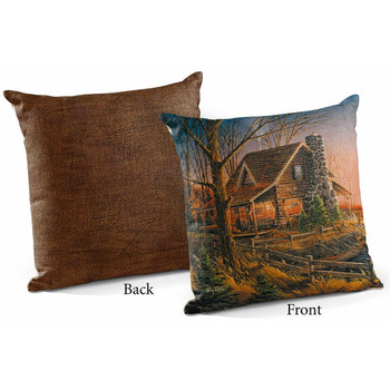 """18"""" Comforts of Home Decorative Square Throw Pillows, Set of 4"""
