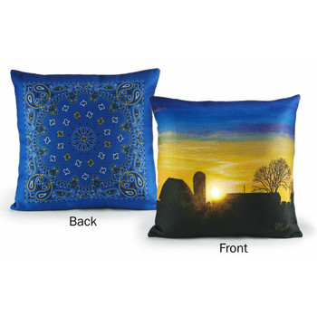 "18"" Chores Done Farm Decorative Square Throw Pillows, Set of 2"