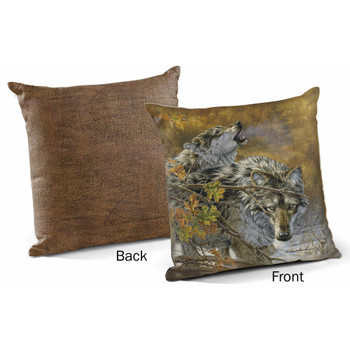 "18"" Body Language Wolves Decorative Square Throw Pillows, Set of 4"
