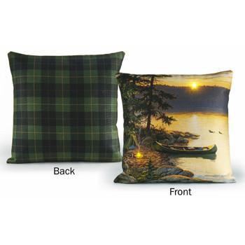 "18"" Summer Sunrise Scenic Decorative Square Throw Pillows, Set of 2"