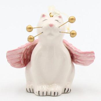 Mini Whisker Cat Angel Christmas Tree Ornaments, Set of 4