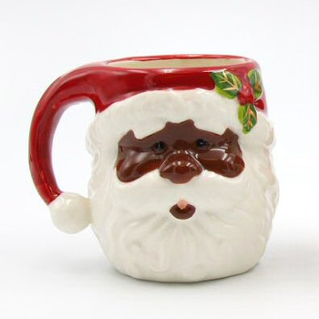 African American Santa Mugs, Set of 2
