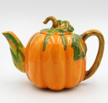 Pumpkin Porcelain Teapot