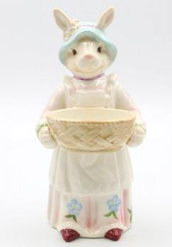 Rosy Rabbits Porcelain Sculpture